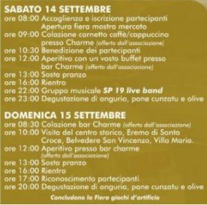 Itinerario Mostra Casteltermini 2019